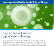 Image of Age fertility and reproductive technology fact sheet