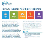 Image of Fertility facts for health professionals resource