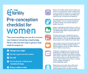 Image of Pre-conception health checklist for women resource