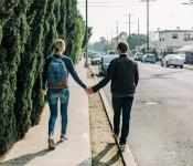 Image of couple walking